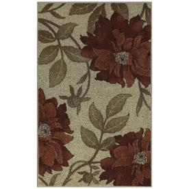 Style Selections Red Rectangular Indoor Tufted Throw Rug (Common: 3 x 4; Actual: 30-in W x 48-in L)