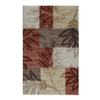 STAINMASTER 30-in x 48-in Rectangular Red Block Accent Rug