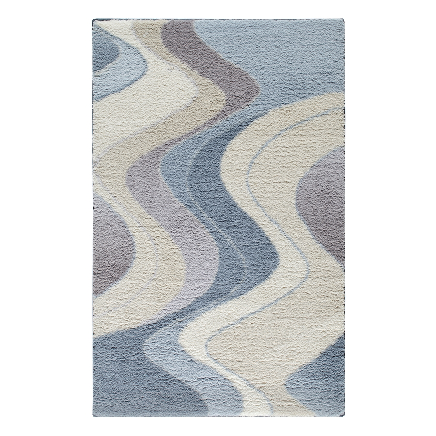 Shop stainmaster rectangular blue geometric tufted accent for Throw rug on top of carpet