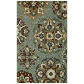 STAINMASTER Blue Rectangular Indoor Tufted Throw Rug (Common: 3 x 4; Actual: 30-in W x 48-in L)