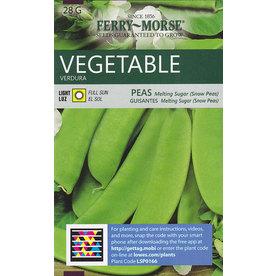 Ferry-Morse Peas Melting Sugar (Snow Peas) Vegetable Seed Packet
