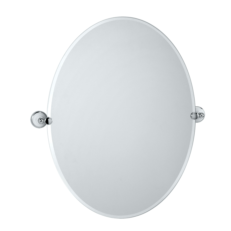 Shop Gatco Franciscan 32 In H X 24 In W Oval Tilting Frameless Bathroom Mirror With Chrome