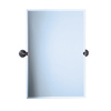 Gatco Marina 28-in W x 31.5-in H Rectangular Tilting Frameless Bathroom Mirror with Bronze Hardware and Beveled Edges