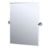 Gatco 40-1/4-in H x 28-1/2-in W Charlotte Rectangular Frameless Bathroom Mirror with Beveled Edges