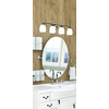 Gatco Designer 2 19.5-in W x 26.5-in H Oval Tilting Frameless Bathroom Mirror with Chrome Hardware and Beveled Edges