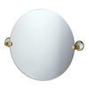 Gatco 19-1/2-in H x 19-1/2-in W Franciscan Round Frameless Bath Mirror with Beveled Edges