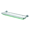 Gatco Premier Chrome Glass Bathroom Shelf
