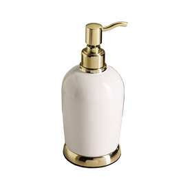 Gatco Polished Brass and White Soap Dispenser