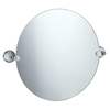 Gatco Franciscan 23-in W x 19.5-in H Round Tilting Frameless Bathroom Mirror with Chrome Hardware and Polished Edges