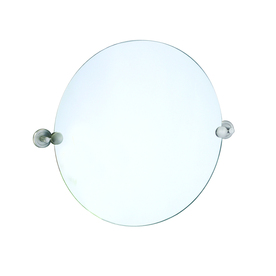 Gatco 19-1/2-in H x 24-in W Latitude 2 Round Frameless Bath Mirror with Beveled Edges