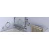 Gatco Latitude 2 19.5-in W x 24-in H Rectangular Tilting Frameless Bathroom Mirror with Satin Nickel Hardware and Beveled Edges