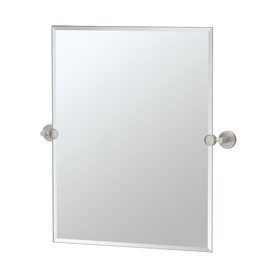 Gatco 24-in H x 19-1/2-in W Latitude 2 Rectangular Frameless Bathroom Mirror with Beveled Edges