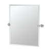 Gatco Latitude 2 19.5-in W x 24-in H Rectangular Tilting Frameless Bathroom Mirror with Satin Nickel Hardware and Beveled Edges