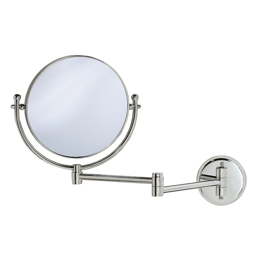 Shop gatco chrome brass wall mounted vanity mirror at for Wall mounted makeup mirror