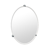 Gatco 30-in H x 21-3/4-in W Oldenburg Oval Frameless Bathroom Mirror with Beveled Edges