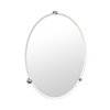 Gatco 30-1/4-in H x 22-1/4-in W Oldenburg Oval Frameless Bathroom Mirror with Beveled Edges
