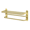 Gatco Polished Brass Metal Towel Rack