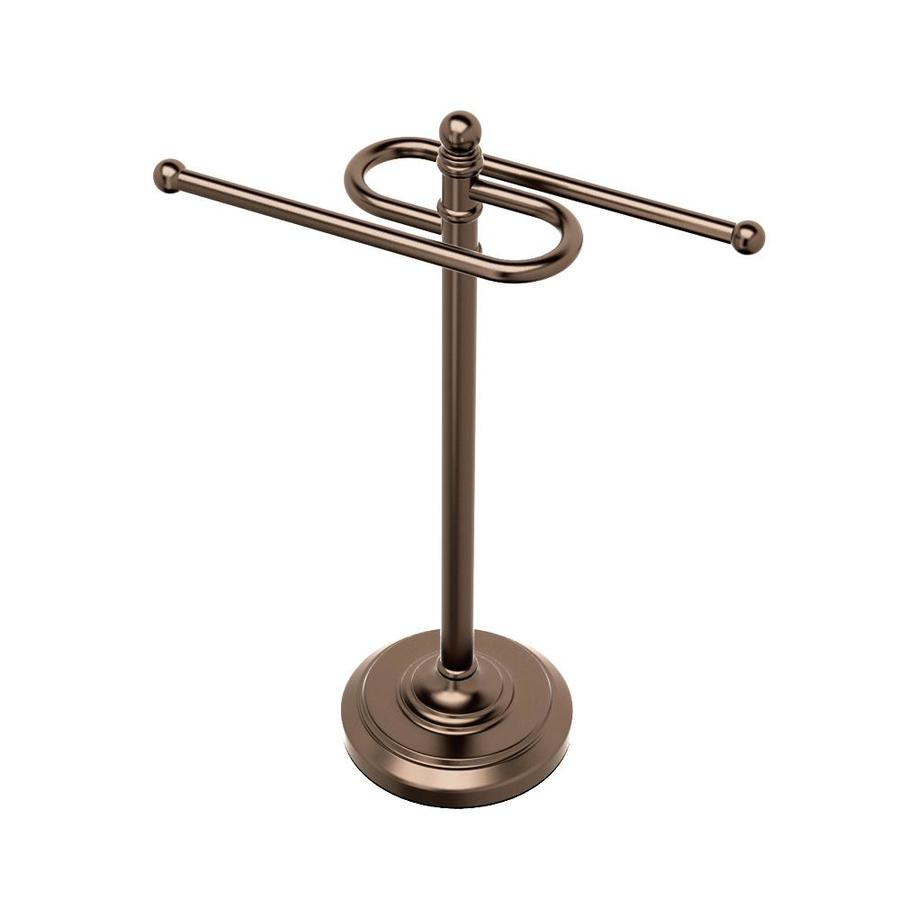 Shop Gatco Perfect Solutions Bronze Zinc Towel Rack At