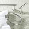 Gatco Latitude 2 Satin Nickel Single Towel Bar (Common: 24-in; Actual: 26-in)