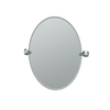 Gatco Lucerne 19.5-in W x 26.5-in H Oval Tilting Frameless Bathroom Mirror with Chrome Hardware and Beveled Edges