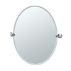 Gatco Lucerne 24-in W x 32-in H Oval Tilting Frameless Bathroom Mirror with Chrome Hardware and Beveled Edges