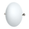 Gatco 30-in H x 21-3/4-in W Charlotte Oval Frameless Bathroom Mirror with Beveled Edges