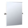 Gatco 40-1/4-in H x 28-1/2-in W Max Rectangular Frameless Bathroom Mirror with Beveled Edges