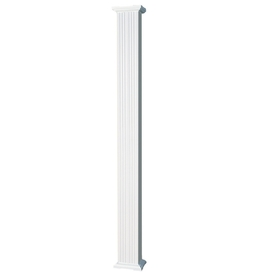 AFCO 4-in x 8-ft Aluminum Square Fluted Column