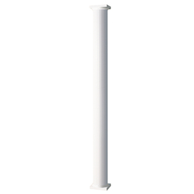 AFCO 6-in x 8-ft Aluminum Round Fluted Column