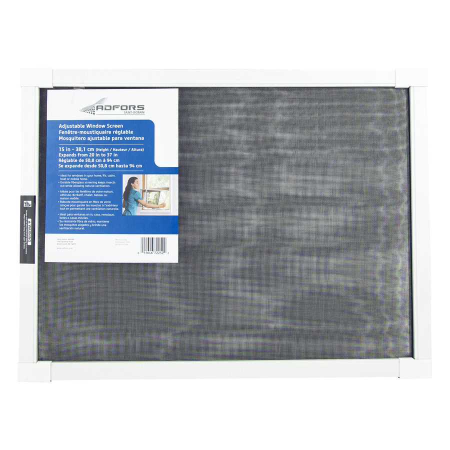 Shop new york wire 15 in adjustable window screen at for Screen new window