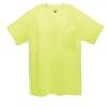 Hanes Medium Safety Green Tagless T-Shirt