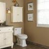 allen + roth Ketterton 7-in W x 28.25-in H x 7-in D Cream Bathroom Wall Cabinet