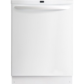 Frigidaire Gallery 2465 Series 53-Decibel Built-in Dishwasher with Hard Food Disposer (White) (Common: 24-in; Actual 24-in) ENERGY STAR
