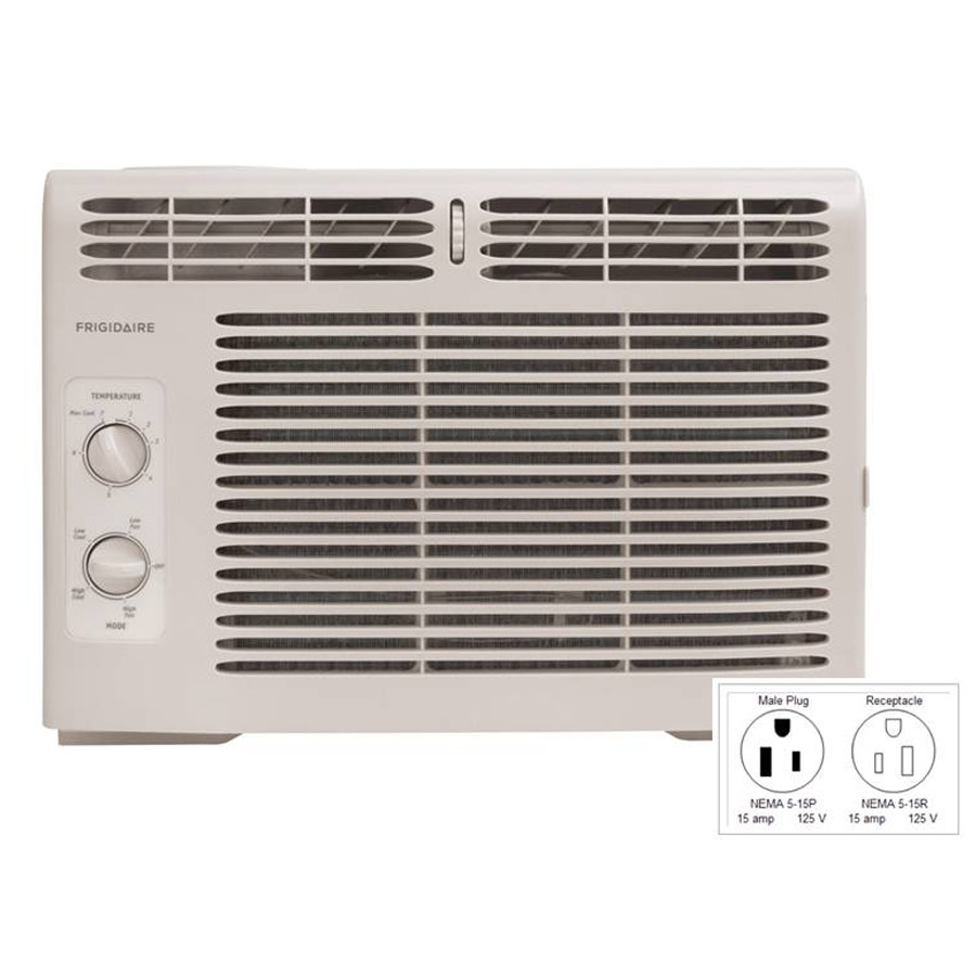 Shop frigidaire 5 000 btu 150 sq ft 115 volt window air for 12 x 19 window air conditioner