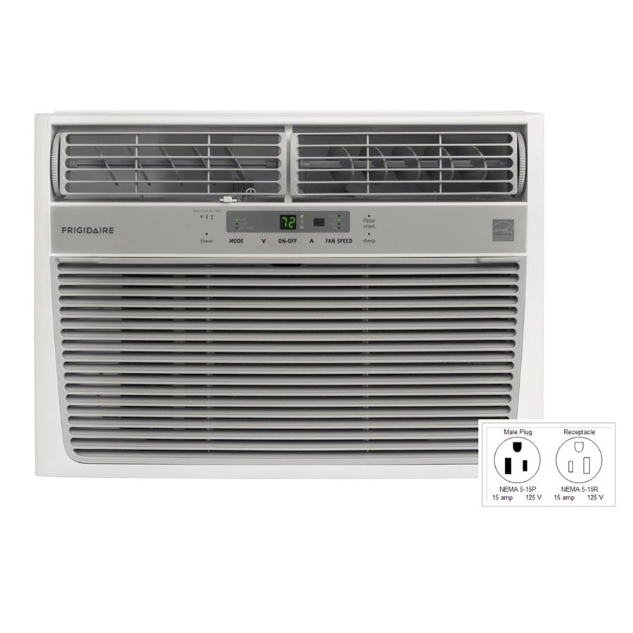 Shop frigidaire 12 000 btu 640 sq ft 115 volt window air for 12 x 19 window air conditioner