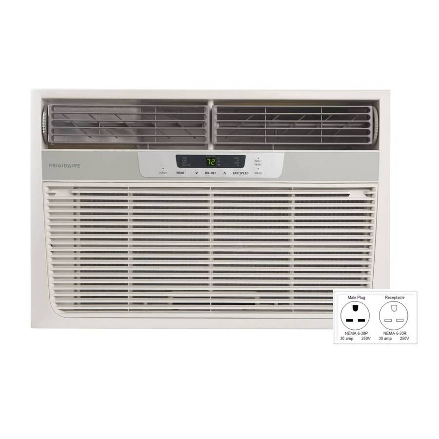 shop frigidaire 18 500 btu 1 170 sq ft 230 volt window air