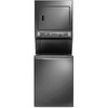 Frigidaire Electric Stacked Laundry Center with 3.8-cu ft Washer and 5.5-cu ft Dryer (Titanium) ENERGY STAR