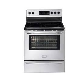Frigidaire Gallery 30-in Smooth Surface Freestanding 5-Element 5.4 cu ft Self-Cleaning Electric Range (Stainless Steel)