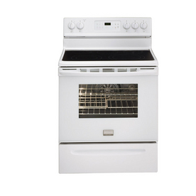 Frigidaire Gallery 3033 Series Smooth Surface Freestanding 5-Element 5.7-cu ft Self-Cleaning Convection Electric Range (White) (Common: 30-in; Actual: 29.88-in)