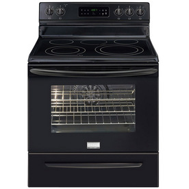 Frigidaire Gallery 3033 Series Smooth Surface Freestanding 5-Element 5.7-cu ft Self-Cleaning Convection Electric Range (Black) (Common: 30-in; Actual: 29.88-in)
