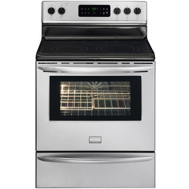 Frigidaire Gallery Smooth Surface Freestanding 5-Element 5.7-cu ft Self-Cleaning Convection Electric Range (Stainless) (Common: 30-in; Actual: 29.88-in)
