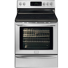 Frigidaire Gallery 30-in Smooth Surface Freestanding 5-Element 5.8 cu ft Self-Cleaning Convection Electric Range (Stainless)