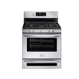 Frigidaire Gallery 30-in 5-Burner Freestanding 5.5 cu ft Convection Gas Range (Stainless Steel)