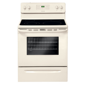 Frigidaire Smooth Surface Freestanding 5.3-cu ft Self-Cleaning Electric Range (Bisque) (Common: 30-in; Actual: 29.88-in)