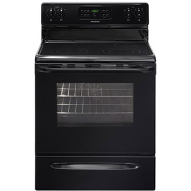 Frigidaire Smooth Surface Freestanding 5.4-cu ft Self-Cleaning Convection Electric Range (Black) (Common: 30-in; Actual: 29.88-in)