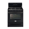 Frigidaire Gallery 30-in 5-Burner Freestanding 5 cu ft Self-Cleaning Convection Gas Range (Black)