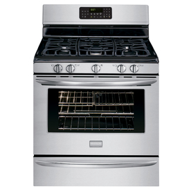 Frigidaire Gallery 5-Burner Freestanding 5-cu Self-Cleaning Convection Gas Range (Stainless) (Common: 30-in; Actual: 29.88-in)