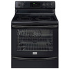 Frigidaire Gallery 30-in Smooth Surface Freestanding 5-Element 6 cu ft Self-Cleaning Convection Electric Range (Black)