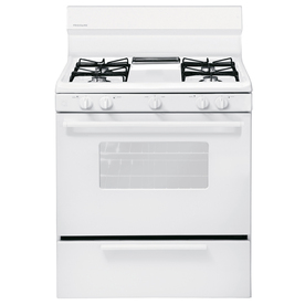 Frigidaire Freestanding 4.2-cu ft Gas Range (White) (Common: 30-in; Actual: 29.88-in)