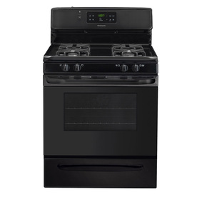 Frigidaire 30-in 4-Burner Freestanding 5 cu ft Self-Cleaning Convection Gas Range (Black)